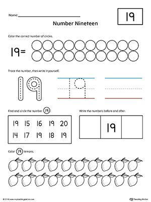 Preschool Writing Numbers Printable Worksheets