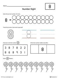 Number 8 Practice Worksheet | MyTeachingStation.com