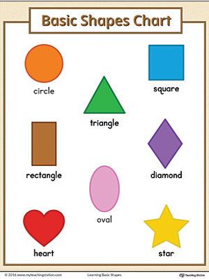 basic geometric shapes printable