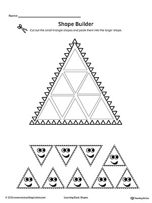Geometric Shape Builder Worksheet: Circle
