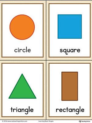 geometric shapes printable flashcards