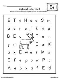 Alphabet Letter Hunt: Letter E Worksheet ...