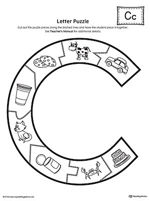 Letter C Cut and Paste Printable Mini Book