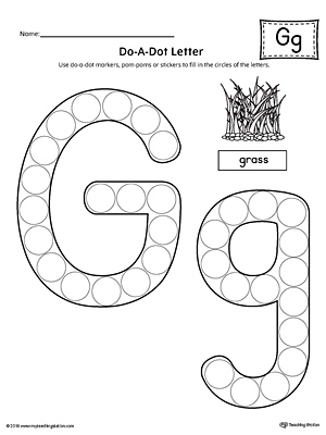 Alphabet Letter Hunt: Letter G Worksheet