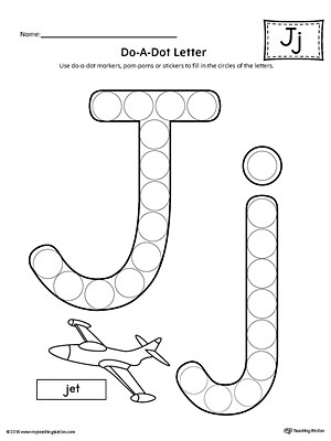 Alphabet Letter Hunt: Letter J Worksheet