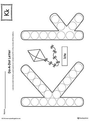 Picture Letter Match: Letter K Worksheet