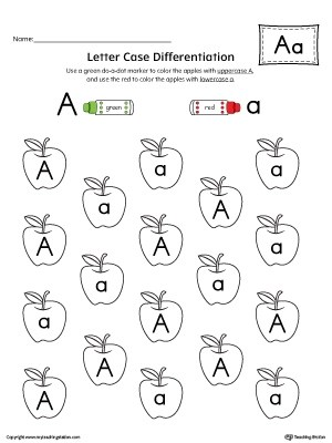 Finding and Connecting Letters: Letter A Worksheet
