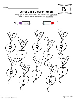 Letter R Large Alphabet Picture Card Printable