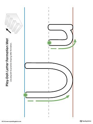 Alphabet Letter Hunt: Letter U Worksheet (Color