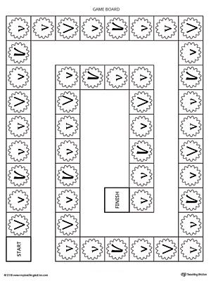 Letter V Beginning Sound Color Pictures Worksheet
