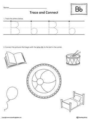 Uppercase Letter B Color-by-Letter Worksheet