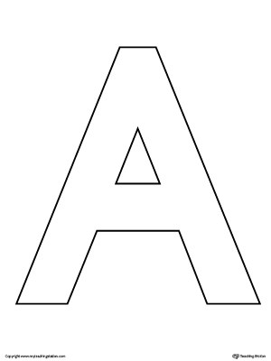 Uppercase Letter A Color-by-Letter Worksheet