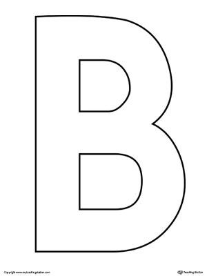 Lowercase Letter B Color-by-Letter Worksheet