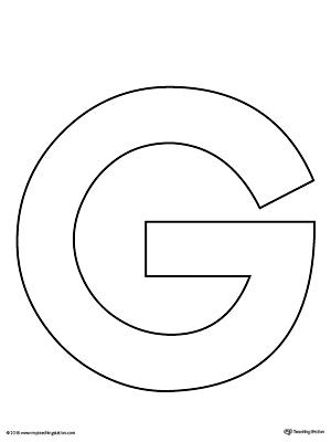 uppercase letter g template