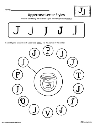 Letter J Tracing and Writing Printable Worksheet