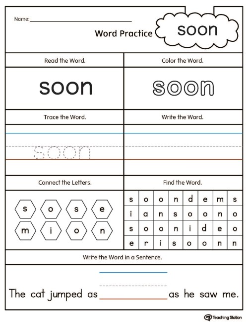 small resolution of Kindergarten High Frequency Words Printable Worksheets    MyTeachingStation.com