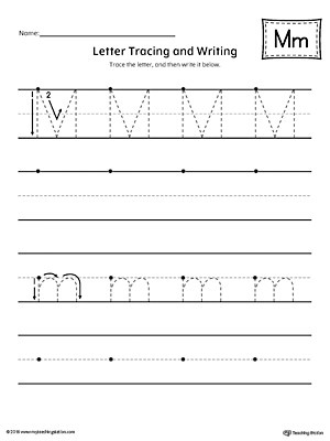 Tracing And Writing Printable Worksheet