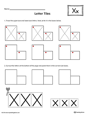 Alphabet Letter Hunt: Letter X Worksheet