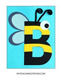 Letter B Craft: Bee | MyTeachingStation.com