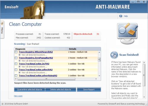 emsisoft anti-malware scanning