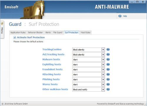 emsisoft anti-malware surf protection
