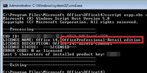 microsoft office 2010 activation failed