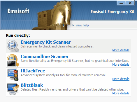 Emsisoft Emergency kit scanner
