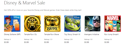 Windows Phone Games Sale