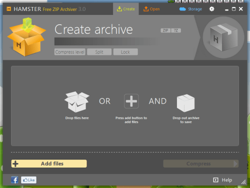 Hamster Free ZIP Archiver for Windows