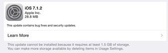 Download iOS 7.1.2 Update