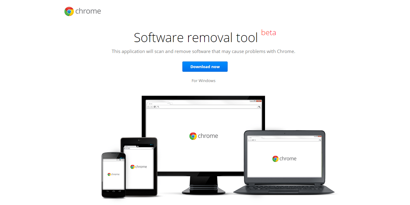 Google Software Removal Tool for Chrome Web Browser