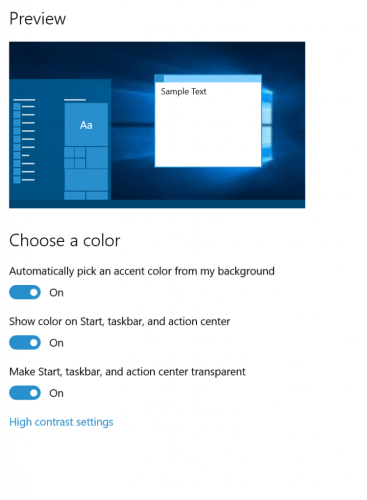 Windows 10: Change window tile color