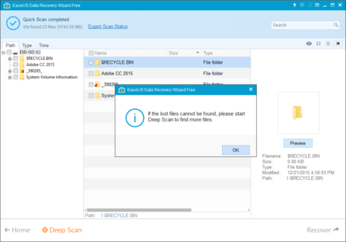 EASEUS Data Recovery Wizard Free - Scan