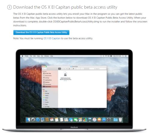 Install Mac OS X 10.11.4 El Capitan Public Beta