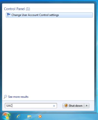 find UAC in Windows 7