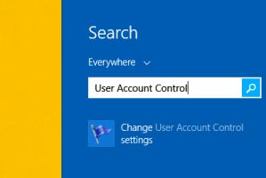 find UAC in Windows 8, 8.1