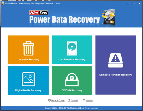 MiniTool Power Data Recovery User Interface