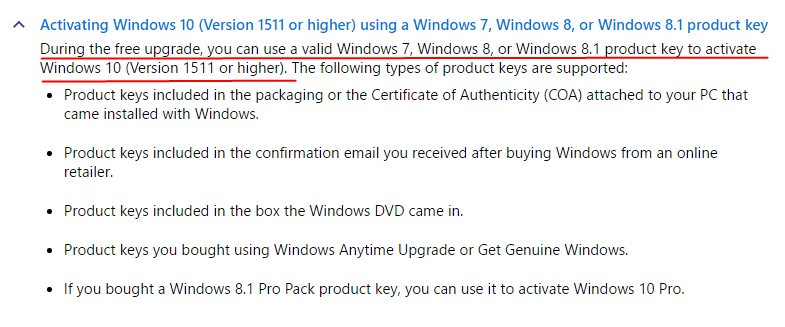 You cant activate windows 10 using windows 7 81 key after july 29 ccuart Gallery