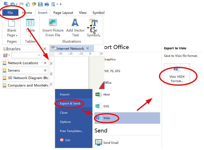 How To Create A MS Visio Computer Network Diagram MyTechLogy