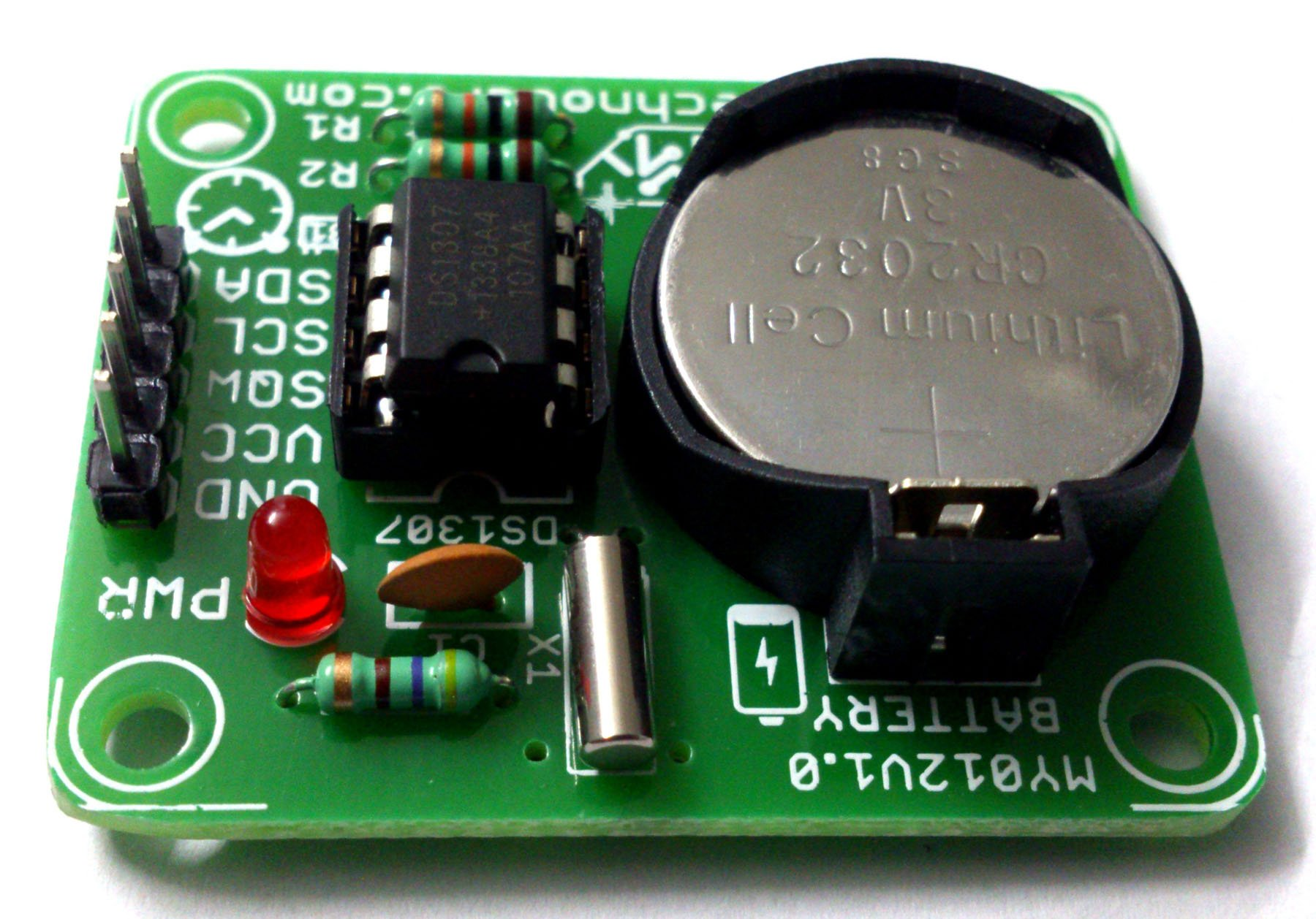 Ds1307 Rtc Module Real Time Clock Circuit For Microcontroller My Digital Using Pic And I2c Iic Free Batteryiic