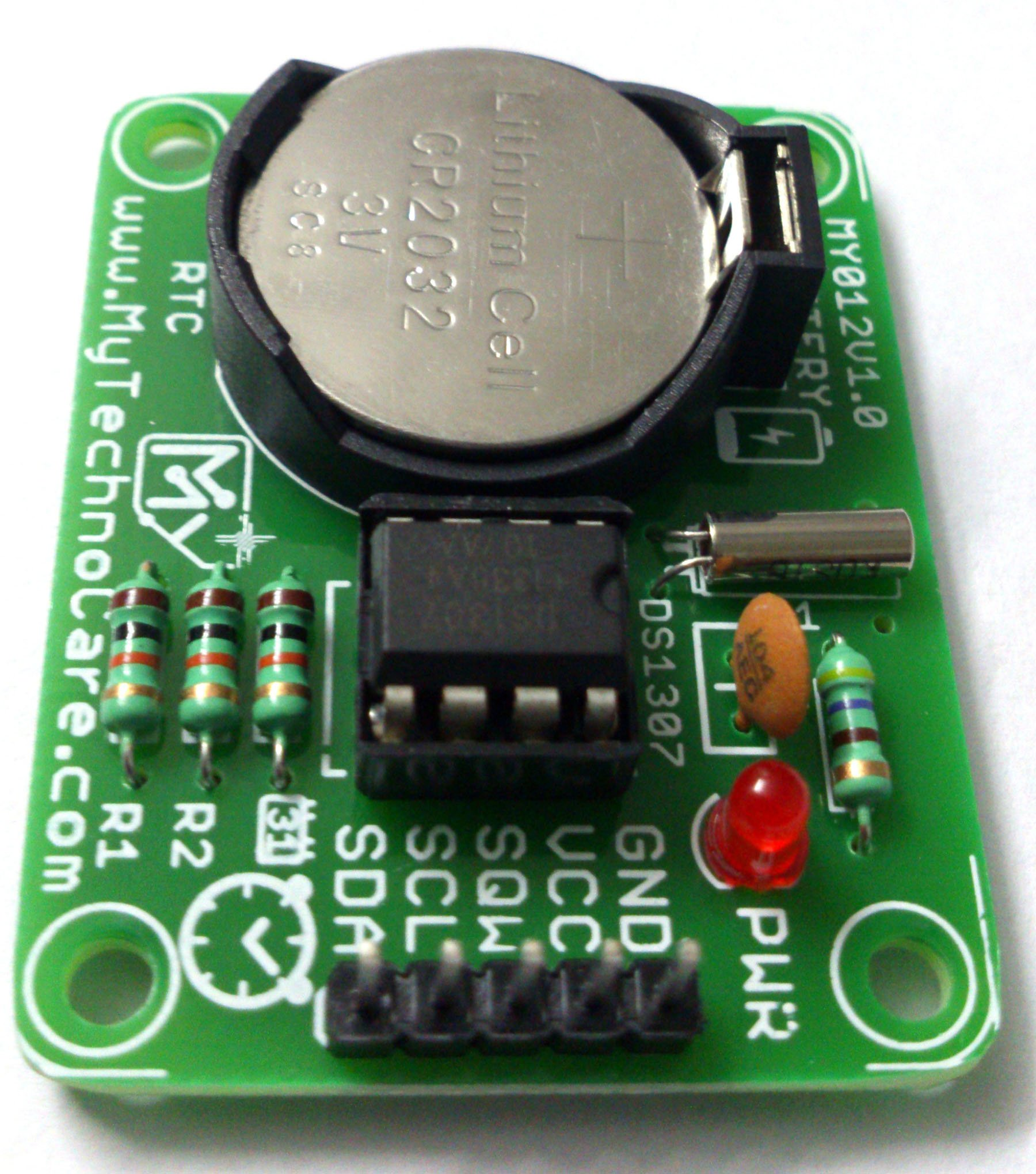 DS1307 RTC Module I2C Real Time clock with Battery Backup