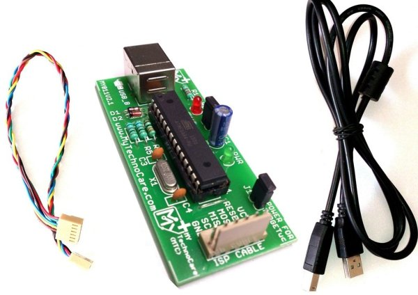 AVR 8051 USB ISP Programmer for 89S51, 89S52 Atmega AVR etc.+FREE USB CABLE MY TechnoCarer