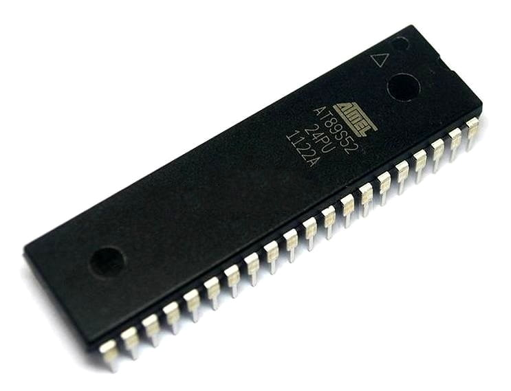 At89s52 Atmel U0026 39 S 8051 Microcontroller Ic Buy Online For Electronic Collage Projects