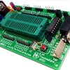 Low Cost 8051 Development Board Price in India With ZIF Socket .Project Board Kit Support AT89S51, AT89S52, P89V51RD2 etc. 40-Pin DIP Chip