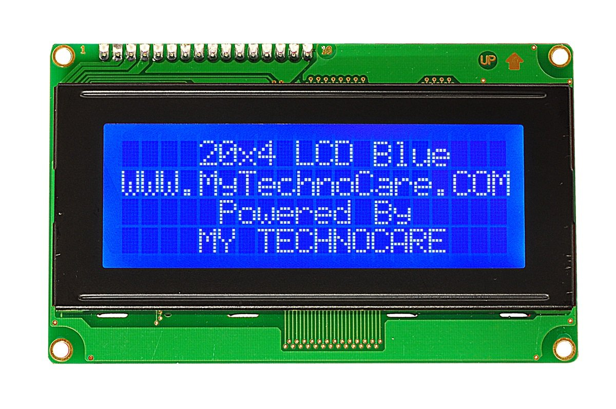 Buy Online 20x4 Character LCD Display Blue Backlight at Best Price For  Electronics