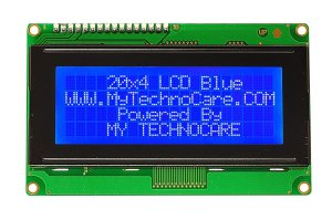 20x4 LCD Display JHD204A With blue backlight HD44780 www.MyTechnoCAre.com 20x4 LCD Display blue BackLight For Arduino,8051,Raspberry Pi,AVR,PIC,ARM MicroController Kit JHD402A HD44780 Compatible Dimension Pinout Connection Configuration Command Code 204A