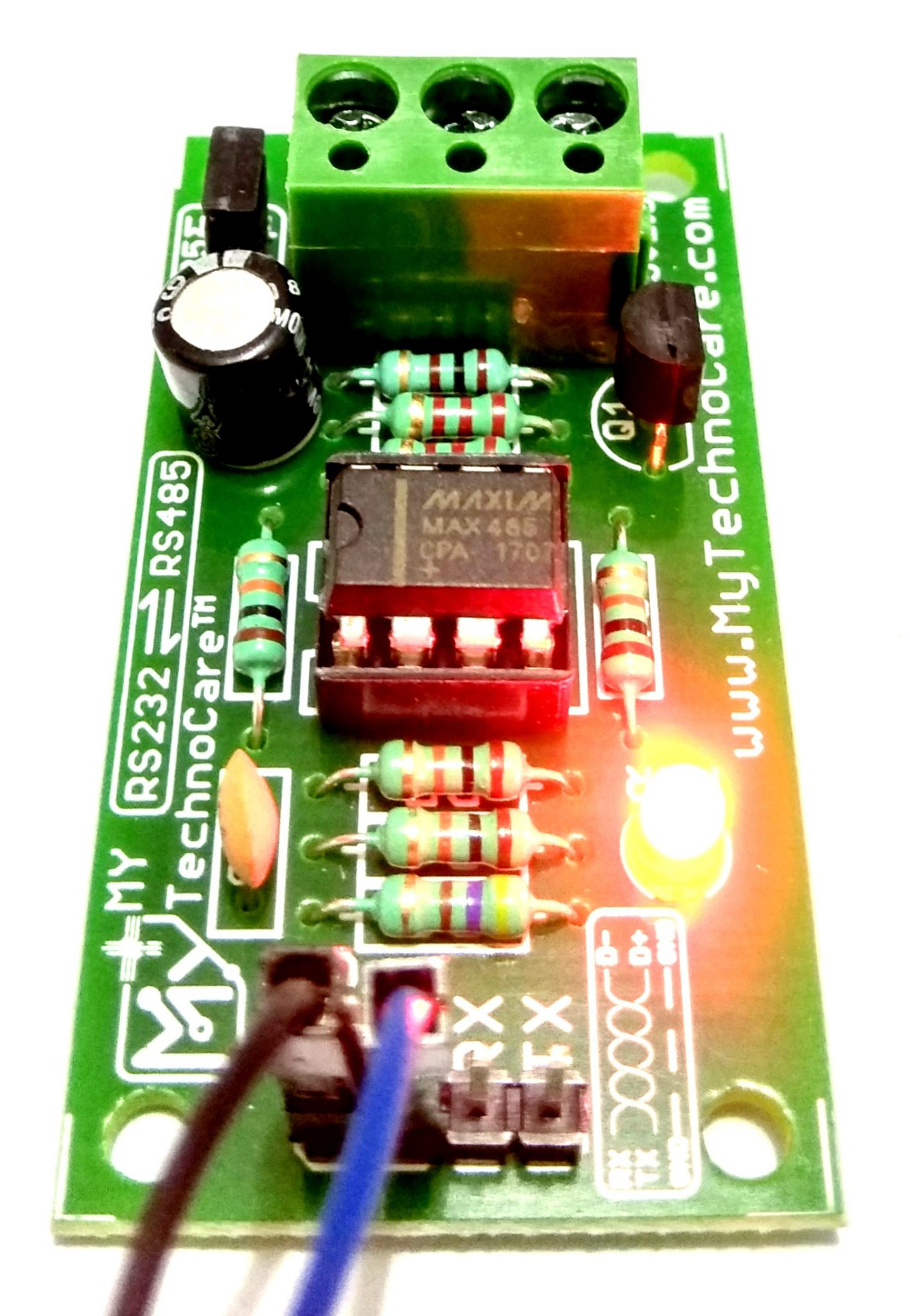 MAX485 to TTL Converter Serial RS232 Transceiver Bi-directional Module