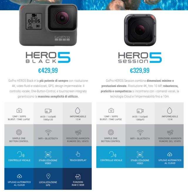 gopro hero 5 VS 5 session