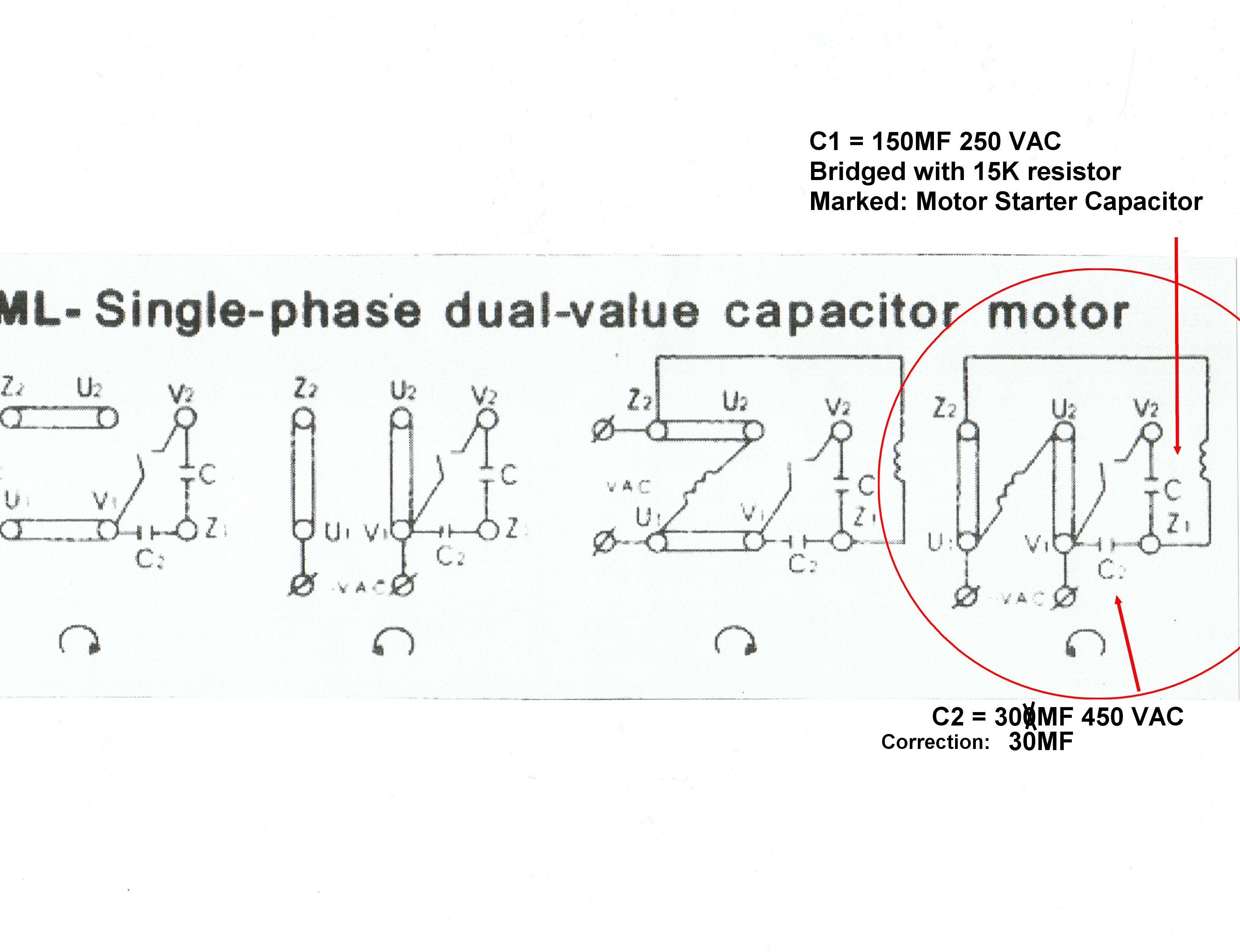 single phase capacitor start induction motor connection wiring diagram ishikawa fishbone sample solved slow 220v
