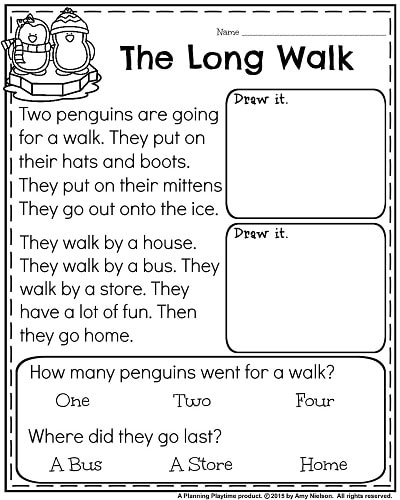 9 1st Grade Reading Worksheets - Free Templates